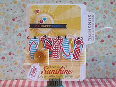 Such a cute summer card using the Papertrey Ink flip flop stamps by @Nichol Magourik.