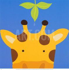 Peek-a-Boo VII, Girafa Impressão artística by Yuko Lau at Art.com