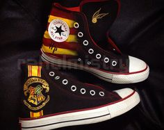 Deathly Hallow Harry Potter Converse Shoes by RahulMistry on Etsy