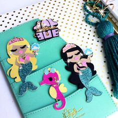 Mermaid Under the Sea Planner paper clips