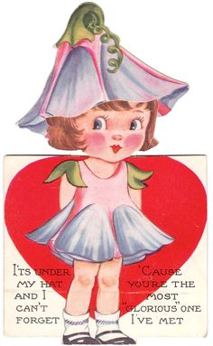 The Paper Collector: Morning glory valentine, c. 1930s