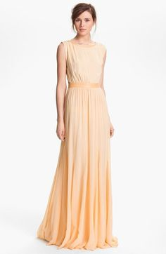 I'm dying for this Alice + Olivia 'Triss' Leather Trim Maxi Dress available at @Nordstrom #givinmelife!!!