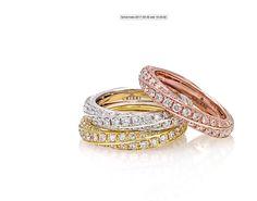 Anello Futura in oro bianco,giallo e rosa. #crieri #crierigioielli #diamanti #anellodiamanti #anello #lusso #diamonds #madeinitaly #jewels #jewelry #futura #jewelryinnovation #luxury #tennisdiamonds