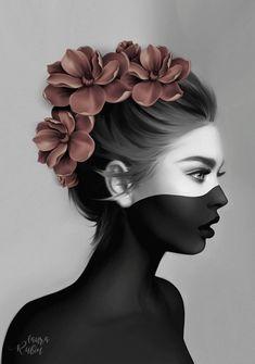 Artwork by Laura H. Artwork by Laura H. Rubin Artwork by Laura H. Creative Photography, Art Photography, Photographie Portrait Inspiration, Pop Art Wallpaper, Digital Art Girl, Dark Fantasy Art, Surreal Art, Portrait Art, Face Art