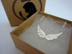 Angel Wing Necklace / Sterling Silver Angel Wing by Ranitit