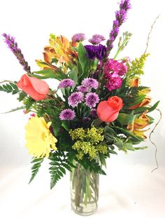 North Raleigh Florists Mixed arrangement with beautiful fresh cut flowers order today  www.northraleighflorist.com