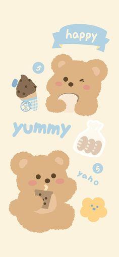 Cute Pastel Wallpaper, Soft Wallpaper, Bear Wallpaper, Cute Patterns Wallpaper, Kawaii Wallpaper, Wallpaper Iphone Cute, Aesthetic Iphone Wallpaper, Cute Cartoon Wallpapers, Pretty Wallpapers