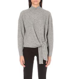WHISTLES - Tie-detail wool and cashmere-blend jumper | Selfridges.com
