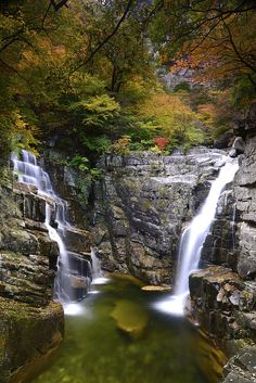 Twin Falls Donghae-Si, Kangwon-Do, South Korea | by Leigh MacArthur