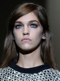 des yeux de poupée 60's / doll eyes Gucci MFW Autumn Winter 2014 Milan Fashion Week, make up trends