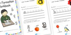 Australia - Letter Formation Workbook - Based on our letter formation worksheets, these workbooks feature worksheets for each letter of the alphabet. Each sheet enables children to practice letter formation and apply it using the images below. Free Teaching Resources, Teacher Resources, Letter Formation, Year 2, Handwriting, Worksheets, Alphabet, Kindergarten, How To Apply
