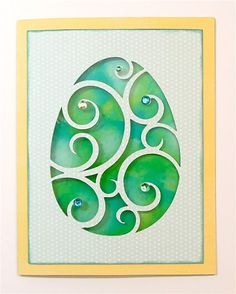Very pretty way to use a die cut. #svg (click on previous entries to access more)