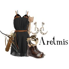 A fashion look from August 2012 featuring John Fluevog shoes, House of Harlow 1960 rings and Diego Percossi Papi earrings. Browse and shop related looks. Artemis Goddess Costume, Artemis Greek Goddess, Moon Goddess, Greek God Costume, Greek Goddess Costume, Goddess Dress, Artimis Goddess, Hunter Of Artemis, Percy Jackson Outfits