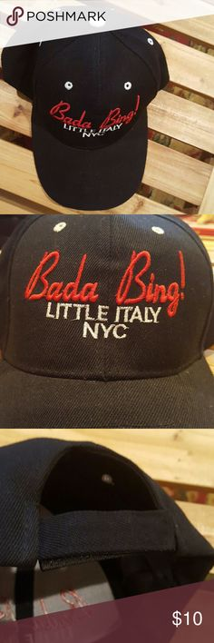 BADA BING! Little Italy NYC Hat NWOT never worn! Fun little baseball cap, with a velcro closure. Accessories Hats