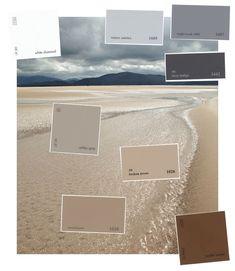 Grey and Tan Living Room Inspiration A Grey and Tan Obsession Coastal Living Rooms, Living Room Colors, Living Room Grey, Coastal Cottage, Coastal Homes, Coastal Colors, Beachy Colors, Neutral Colors, Deco Design