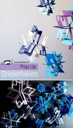 Pop Up snowflake craft