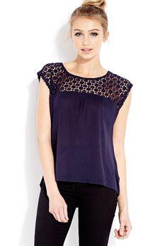 Crochet Daze Knit Top | FOREVER21 - 2000070745 #Forever21 #Fashion