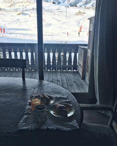 Courchevel French breakfast snow mountain