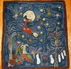 Hand Hooked Rugs :: October Night :: Hooked Rugs
