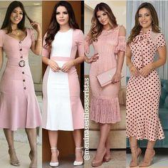 A imagem pode conter: 4 pessoas, pessoas em pé Muslim Fashion, Hijab Fashion, Fashion Dresses, Simple Dresses, Pretty Dresses, Elegant Dresses, Filipiniana Dress, Smart Dress, Mature Fashion