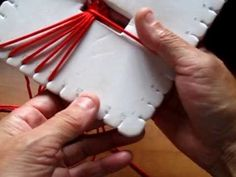 ▶ pulsera kumihimo rojo blanco - YouTube