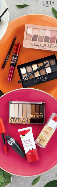 Want that pretty, natural look? These nude eye palettes from Maybelline & Cover Girl, available at Ulta Beauty, make it easy. Add dewy foundation, a swipe of mascara & a little bit of liner to complete your look.