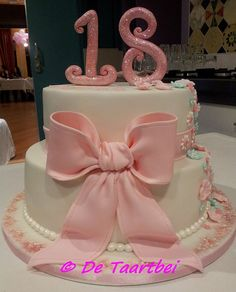 Girly pink cake this will be my cake for my 18th
