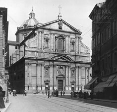 Piazza del Gesù (1910) Old Photos, Rome, Louvre, Paris, Monuments, Baroque, Building, Photographs, Travel