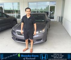 Congratulations to Jay Ata on your #Honda #Accord Sedan purchase from Cody Railsback at Honda Cars of Rockwall! #NewCar
