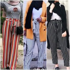 Spring this season is certainly bringing us a lot of cheerful feeling. Spring season promises to be a fun time so whatever your fashion preferences are, it's Hijab Fashion Summer, Modest Fashion Hijab, Street Hijab Fashion, Work Fashion, Fashion Pants, Fashion Outfits, Hijab Trends, Hijabi Girl, Girls Wardrobe