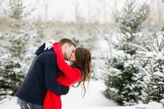 Winter Engagement Session - Kristyn Harder Photography