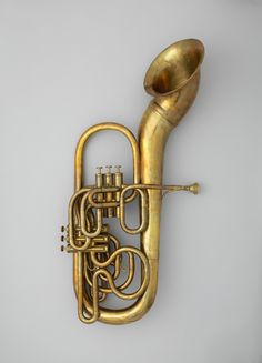 This instrument features several innovations by Sax, including his six independant valve system and a  pavillon tournant, or moveable bell that can be adjusted by the player to direct the sound of the instrument