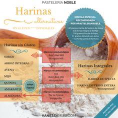 Mis sustituciónes de harina. #pastelerianoble