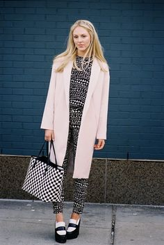 printy with a dash of pink. #SheaMarie and her awesome creepers in NYC. #PeaceLoveShea