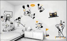 Vinilos decorativos infantiles de Robots Vinilo decorativo pared Mural infantil | eBay Realize su propia composición con nuestros vinilos infantiles de la serie robots,¡le quedará un mural muy divertido y futurista!