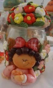 Resultado de imagem para biscuit country em vidros