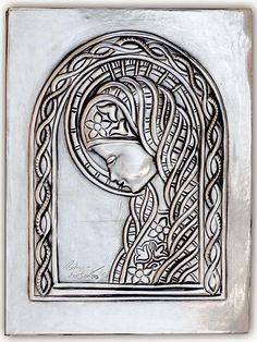 Placa Virgen María