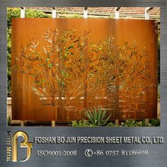 Custom Ornamental Corten Rusted Steel Laser Cutting Metal Sheet Fence - Buy Metal Sheet Fence,Metal Sheet Fence,Metal Sheet Fence Product on Alibaba.com