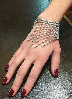 Diamond Jewelry Beautiful bracelet solid 925 sterling silver handmade white wedding perfect new Diamond Bracelets, Bangle Bracelets, Bangles, Silver Bracelets, Silver Jewelry, Bridal Jewelry, Diamond Jewelry, Silver Ring, Fashion Bracelets