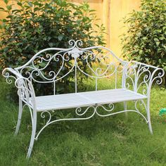 Antique White Hot Sale Folding White Wrought Iron Garden Bench Pictures Photos Hebei Mingda International Trading Co Ltd China Hot Sale Folding White Wrought Iron Garden Bench China Wrought Iron Garden Furniture, Wrought Iron Bench, Iron Patio Furniture, Iron Balcony, Outdoor Chairs, Outdoor Decor, Garden Seating, Metal Chairs, Country Style