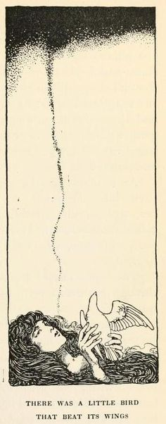 Hans Andersen's fairy tales (1913)  Illustrations by William Heath Robinson    There was a little bird that beat its wings