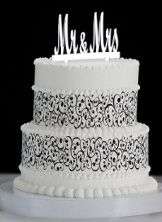 Contemporary Elegance Safeway Cake 160 est for 80 people top