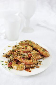 Γαρίδες με σάλτσα μουστάρδας