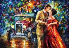 Л. Афремов, Поцелуй, картина раскраска по номерам, размер 40*50см, картины своими руками. 750 руб.