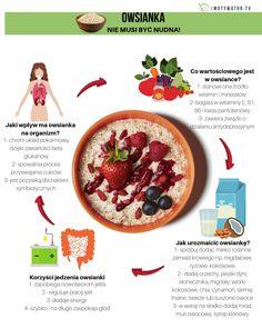 Jak zrobić smaczną owsiankę? 5 szybkich zdrowych pomysłów   Motywator Dietetyczny Kefir, Hummus, Food And Drink, Healthy Eating, Ethnic Recipes, Historia, Eating Healthy, Healthy Nutrition, Clean Foods