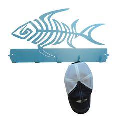 Fish Skeleton Metal Coat Rack and Hat Rack by MadMetalWorks