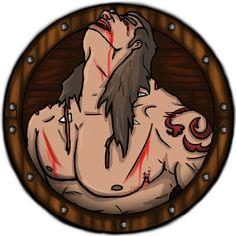 JAVIER ARRÉS ILLUSTRATION: New Character for RPG fantasy app videogame. The Barbarian (75% Damage)