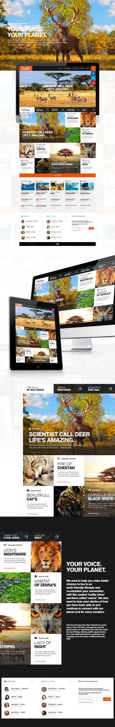 Jeff Corwin Connect - Web design by Firman Suci Ananda, via Behance
