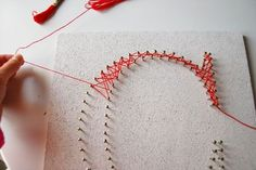 DIY String Wall Art Tutorial   Can use for Letters or Numbers