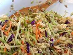 Crunchy Ramen Noodle Salad. So addictively delicious! And a perfect summer side dish (or lunch)! …from MamaManagement.